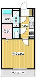 (仮称)平泉東3丁目マンションA棟 1階1Kの間取り