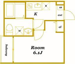 コムディエノ[1階]の間取り