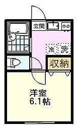 AZEST-RENT一橋学園II 1階1Kの間取り