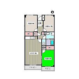 サンハイツ21[4階]の間取り