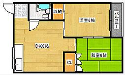 第二丸美マンション[2階]の間取り