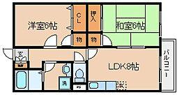 兵庫県神戸市長田区重池町2丁目の賃貸アパートの間取り