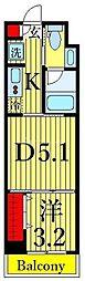 One ROOF Residence Kiba WEST 9階1DKの間取り