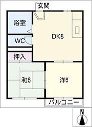 タウニィ大和3[2階]の間取り