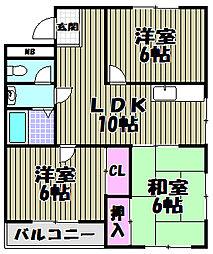 KTマンション[4階]の間取り