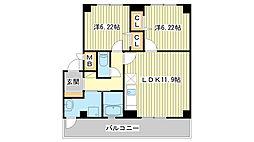 兵庫県たつの市龍野町富永の賃貸アパートの間取り