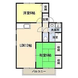 ソレイユ加納 A棟[1階]の間取り