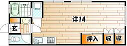 元宮荘[1階]の間取り