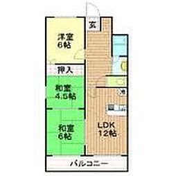 兵庫県神戸市兵庫区小河通4丁目の賃貸マンションの間取り
