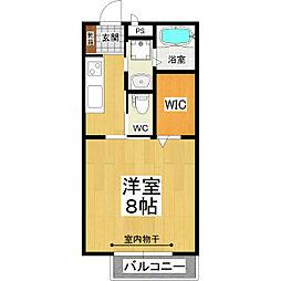 JR常磐線 土浦駅 バス15分 市民会館前下車 徒歩2分の賃貸アパート 2階1Kの間取り