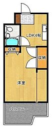 パジオン櫛原[4階]の間取り