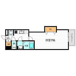 Osaka Metro谷町線 都島駅 徒歩10分の賃貸マンション 7階1Kの間取り