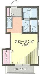 プロスパ藤井[205号室]の間取り