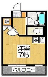 京都府京都市伏見区深草綿森町の賃貸マンションの間取り