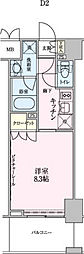 ロイジェントパークス赤坂[2階]の間取り