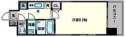 スプランディッド天王寺 9階1Kの間取り