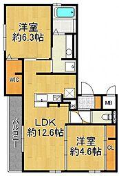 (仮称)武庫之荘5丁目D-room[302号室]の間取り