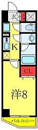 (仮称)レオーネ高島平 2階1Kの間取り