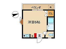 東京都世田谷区世田谷4丁目の賃貸アパートの間取り