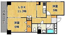 六本松パールシャトー[5階]の間取り