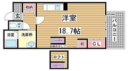 HAT神戸・灘の浜12号棟[8階]の間取り