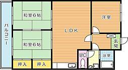 シャトレ青山 B[1階]の間取り