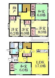 [一戸建] 兵庫県神戸市灘区城の下通2丁目 の賃貸【/】の間取り