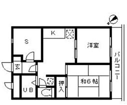 東京都福生市武蔵野台2丁目の賃貸マンションの間取り