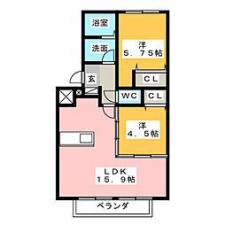 デュエットI[2階]の間取り