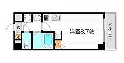 レジデンス福島II[4階]の間取り