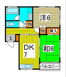 ドメスティック[2階]の間取り
