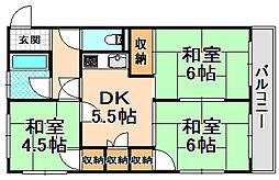 兵庫県伊丹市平松6丁目の賃貸マンションの間取り