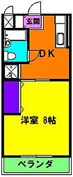 静岡県浜松市東区有玉南町の賃貸マンションの間取り