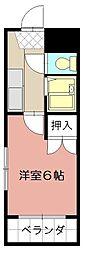 シャトレ井堀[401号室]の間取り