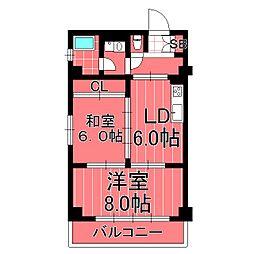 横浜天王町レジデンス[6階]の間取り