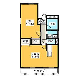 ボンベルソ[1階]の間取り