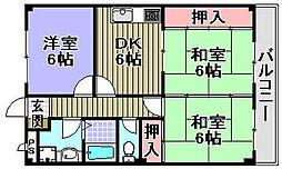 ドリーム岸和田[205号室]の間取り
