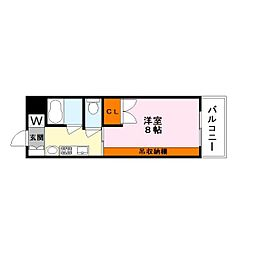 都市ガスコーポ吉井[2階]の間取り