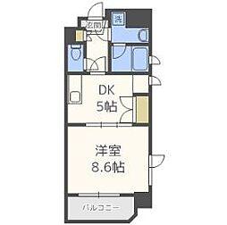 天満泉マンション[3階]の間取り