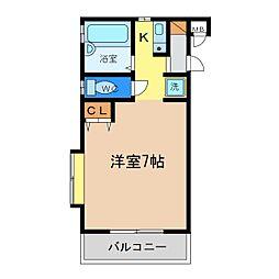 徳島県徳島市蔵本元町3丁目の賃貸マンションの間取り
