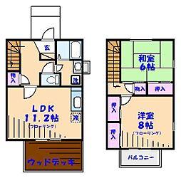 [テラスハウス] 千葉県船橋市夏見台4丁目 の賃貸【/】の間取り