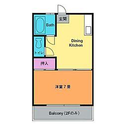 第3古沢荘[2階]の間取り
