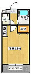 ツインアークス[307室号室]の間取り