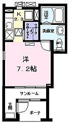 ミルト応仁[1階]の間取り