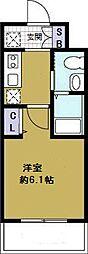 エステムコート難波WEST-SIDEIII ドームシティ[11階]の間取り