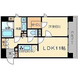 リーガル新大阪駅前[5階]の間取り