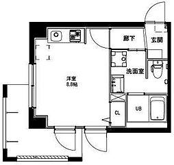 (仮称)平和島・斎藤マンション 3階ワンルームの間取り