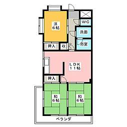 マンション東柴第1[3階]の間取り
