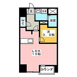 ウィンクラッセ 6階1SKの間取り