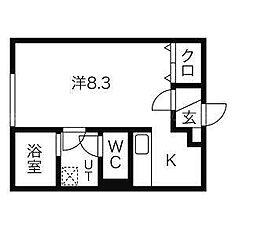 Vivo伏古[3階]の間取り